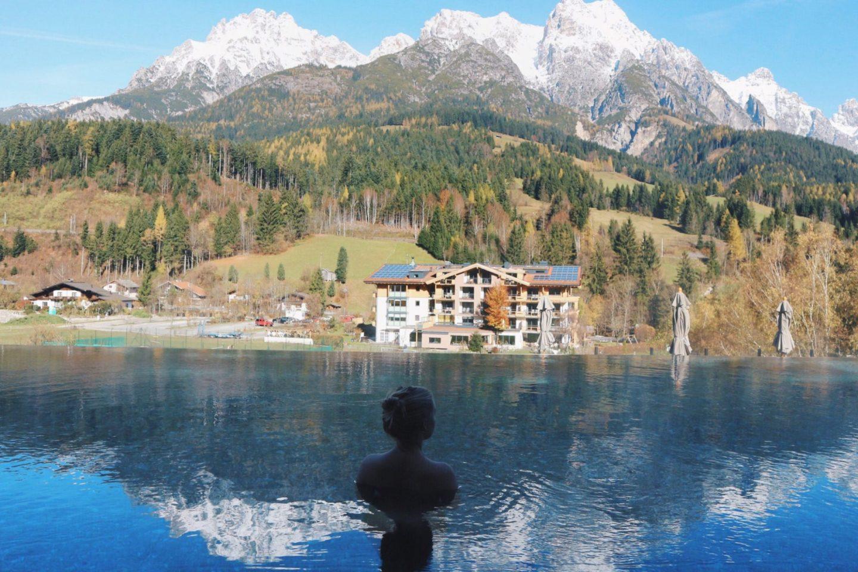 Hotel review Empfehlung Reiseblog Reisebericht Leogang Tirol Hotel